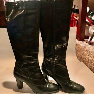 Franco Sarto tall black boots size 10